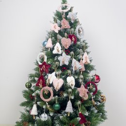 $enCountryForm.capitalKeyWord NZ - 5 Pcs Merry Christmas Decorations for Home Navidad Plush Hanging Ornaments Pendant Happy New Year Tree Decoration Crafts Gifts