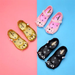 Ankle wrAp dress shoes online shopping - Kids Girls Mini Melissa Sandals Children Cute Cartoon Unicorn Jelly Rainbow Brethable Holes Shoes Summer Pricess Dress Beach Sandals color