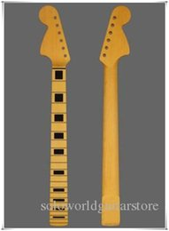 Wholesale Left-handed Right-handed 6 Strings Yellow Maple Electric Guitar Neck with Maple Fingerboard,Can be customized as request