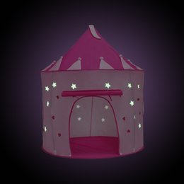 $enCountryForm.capitalKeyWord NZ - New arrival 105X135CM Grow Tent light up kids playing games tent pink color princess house kids christmas toys supplies