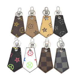 universal charm NZ - Keychain Leather Tag Cell Phone Straps Charms Accessories Eight Styles Car Keychain Fashion Universal Key Ring Holder Best Gift For Lover