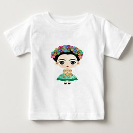 Frida Kahlo Tees Australia - Children Frida Kahlo Design T-shirts Boys Girls Summer White T shirts Kids Toddler Short Sleeve t shirt Tops cotton tee