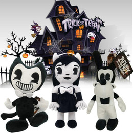 halloween puppets NZ - Tint Machine Series Image Bendy Boris Plush figures toys Children Doll House Decoration Christmas Halloween Gifts
