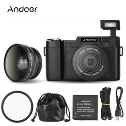 video camera full hd lens NZ - Andoer CDR2 1080P Full HD Digital Video Camera 24MP 4X digital zoom Anti-shake Camera Camcorder With Wide-angle Lens
