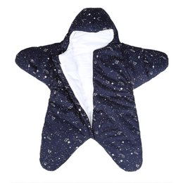 cartoon bunting NZ - Wearable Blanket Starfish,Bunting,Sleeping Bag,Fall Winter,Plush,Padded,Newborn,Anti-Kicking