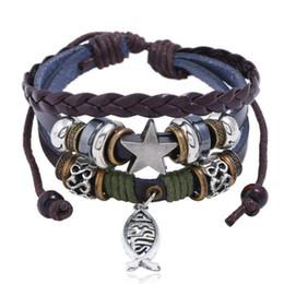 Fashion christian bracelet online shopping - DHL Fashion Men Cross Charm Bracelets Multilayer Braided Christian Leather Bracelets Faith Bangles Couples Cuff Jewelry Gifts