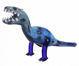 Lighted Bong Australia - 2018 New Special Offer Straight Type Light Yellow Sky Blue Glass Art Dinosaur Tobacco Pipe Hand 4 Inch Smoking Pipes Cool Design Water Bong