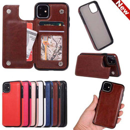 samsung note 10 plus flip case Canada - Luxury Flip Synthetic Leather Wallet Magnetic Card Slots Stand Holder Phone Case Cover For iPhone 6 7 8 Plus 10 X XS max 11 Samsung Note S10