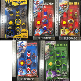 Dog Block Australia - LogoING Blocks Kids Watch Toys Come with Box Packaging The Avengers KT PAW Dog Bricks Kids Watch DIY Doll