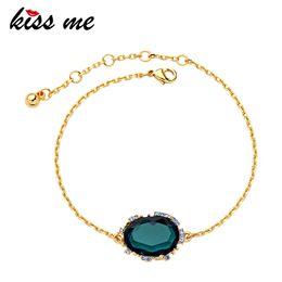 $enCountryForm.capitalKeyWord NZ - KISS ME 2019 Charm Bracelet Korean Fashion Gold Color Alloy Chain Resin Geometric Women Bracelet Imitation Jewelry