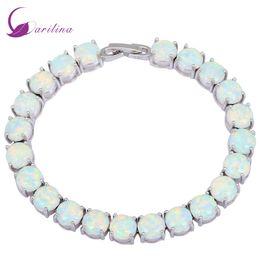 $enCountryForm.capitalKeyWord Australia - Glam Luxe Mysterious Silver White Fire Opal Bracelets & Bangles For Teen Girls Pulseiras Femininas Jewelery Woman Wedding B434 Y19051002