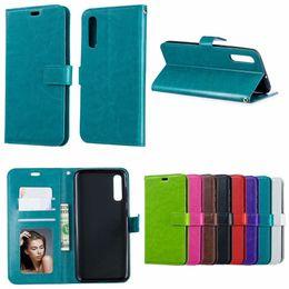 Vente en gros Pour Samsung S10 plus 5G E couverture de téléphone portefeuille en cuir fou cheval cas A80 A70 M30 M20 A10 A40 A30 A20E A70