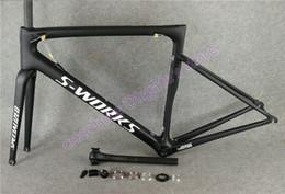 Toptan satış Üst satış Beyaz logo Siyah UD Mat SL6 karbon yol çerçeveleri ile seçiminiz için ücretsiz shippin 46-49-52-54-56-58cm