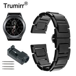 $enCountryForm.capitalKeyWord Australia - 20mm Ceramic Watchband For Samsung Gear S2 Classic R732 R735 Galaxy Watch 42mm  Active 40mm Gear Sport Band Wrist Strap Bracelet T190620