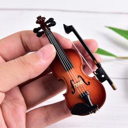 Mestieri di plastica di plastica del piccolo di violino dell'ornamento degli strumenti di plastica miniatura della decorazione di DIY con supporto