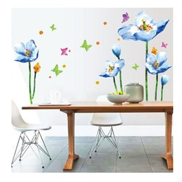 Moving flower online shopping - The fifth generation of blue flowers can be moved to the wall and affixed to a PVC