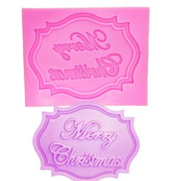 christmas fondant Australia - M0281 Merry Christmas Letter form fondant cake silicone mold kitchen chocolate candy making cupcake cake decorating