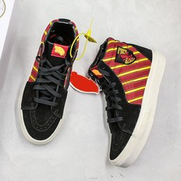 $enCountryForm.capitalKeyWord Australia - Old skool sk8 Fireman mens womens canvas sneakers Magic Flame Red YACHT CLUB MARSHMALLOW Fastion skate casual shoes with box size 36-44