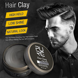 waxing for hair NZ - Purc Original Hair Clay Coloring hair styling wax High Hold Low Shine hair clay For Men's Styling 6pcs