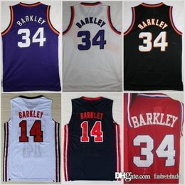 $enCountryForm.capitalKeyWord NZ - 1992 NEW Dream Team One 14 Charles Barkley Phoenix Jersey SUNS Fashion 34 Shirts Uniforms Red Black Purple White Navy Blue