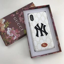 Iphone cases luxury logo online shopping - 3D Embroidery Metal Logo Luxury Phone Case for Iphone X XS XR Xs Max Tide Brand Designer Case for Iphone plus plus