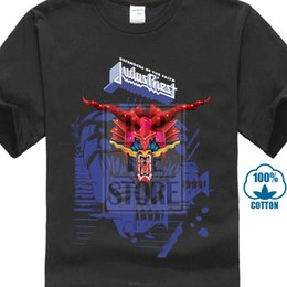 blue shirt design man Australia - Judas Priest Defenders Blue Print Shirt S M L Xl Xxl Officl T Shirt Metal Tshirt New Man Design T-shirt Anime