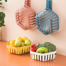plastic vegetable storage Australia - Hollowed Fruit Drain Storage Basket Home Living Room Candy Melon Snack Plate Kitchen Vegetable Organizers Tool for home
