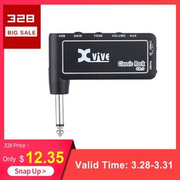 Mini guitar aMps online shopping - Xvive GA3 Classic Rock Mini Portable Rechargeable Electric Guitar Plug Headphone Amp Amplifier