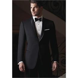 $enCountryForm.capitalKeyWord Australia - Brand New Dark Grey Men 2 Piece Suit Wedding Tuxedos Excellent Groom Tuxedos Men Prom Dinner Business Blazer(Jacket+Pants+BowTie)1334