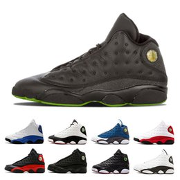 got games 2019 - Free shipping 13 mens basketball shoes He Got Game Phantom bred black cat playoff GS Italy Blue Chicago trainers sports