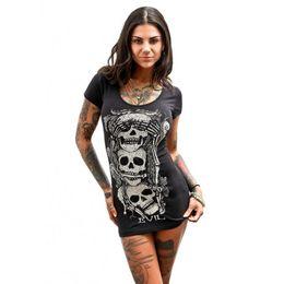 582bd7eea83 Fashion T Shirt Women casual Loose Short Sleeves Skull Printed Summer crop  top Vintage Tshirt Camisetas Mujer T-Shirt