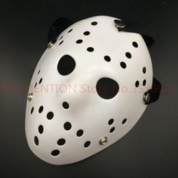 $enCountryForm.capitalKeyWord Australia - Black Friday Jason Voorhees Freddy hockey Festival Party Full Face Mask Pure White 100gram PVC For Halloween Masks 20pcs lot