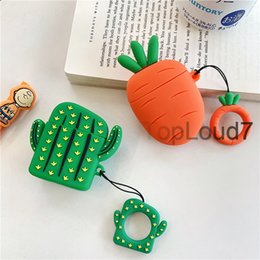 Peach iPhone online shopping - Earphone Case For Airpods Case Silicone Cute Peach Fruit Strawberry Cover For Apple Air pods Earpods Accessories Earbuds Case