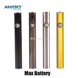 Authentic Itsuwa Amigo Max Pré-aqueça Bateria 380 mAh VV Inferior de Carregamento USB 510 Linha Vape Caneta de Bateria para o Cartucho de Liberdade 100% Original em Promoção