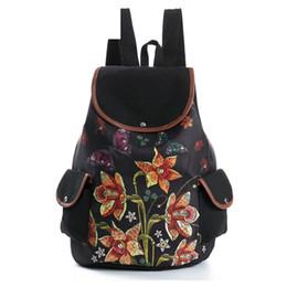 cf9ef582e8 good quality Hot Sale Colorful Floral Printed School Backpack Female  Drawstring School Bag For Teenage Girls Canvas Travel Rucksack