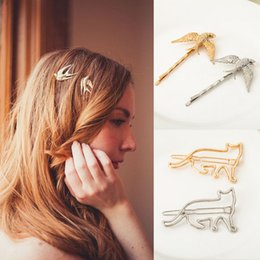 $enCountryForm.capitalKeyWord Australia - Fashion Girls Hair Clips Bohemia Elegant Women Hair Jewelry High Quality Gold Silver Plated Alloy Animals Barrettes Gift