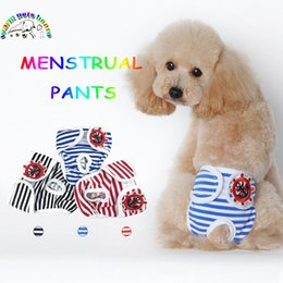 Cat Hat Ornaments Australia - New Cute Pet Dog Stripe Physiological Pants Panty In Season Sanitary Pants For Female Lovely Underwear For Boy Dog Cat