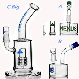 $enCountryForm.capitalKeyWord Canada - Nexus Glass Beaker Base Bong Stereo Matrix perc 14mm Bowl heady Oil Rigs Smoking Glass Pipes Bubbler Unique Bongs Hookahs