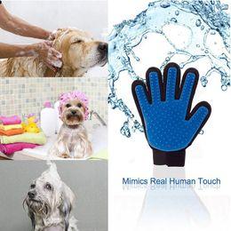 Handhaarentfernung Pinsel Haarentfernung Handschuhe Katzen Hunde Universal Reinigung Massage Silikon Badehandschuhe Pinsel Pet Links Rechts DH0271 im Angebot