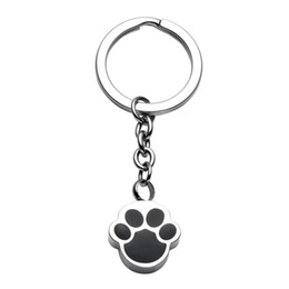 ring slides UK - Pet Cremation Urn Necklace Key chain Keepsake Puppy Dog Paw Ashes key ring Pendant Memorial Jewelry