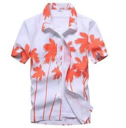 Mens Linen Shirt Xl UK - Mens Hawaiian Shirt 2018 Summer New Casual Camisa Masculina Floral Printed Short Sleeve Male Beach Shirts Plus Size
