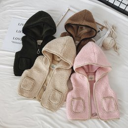 Winter Waistcoats for kids online shopping - Baby Boy Vest Lamb Fur Vests Baby Girls Boys Christmas Kids Vests Waistcoats Vest Outerwear Baby Toddler Winter Clothes for Y