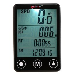 $enCountryForm.capitalKeyWord UK - Bicycle Computer Waterproof Multifunction Cycling Computer Wireless Touch Button LCD Odometer Speedometer LED Backlight #577041