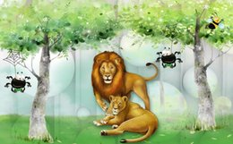 $enCountryForm.capitalKeyWord NZ - modern wallpaper walls Forest lion 3d woods forest big tree beautiful children's room kids room