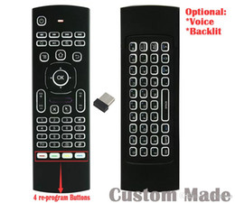 $enCountryForm.capitalKeyWord Australia - 10pcs Custom Made MX3 T3 RF 2.4GHz Re-program Wireless Air Mouse Mini Keyboard Backlit Remote Controller Game Player Gyroscope G-sensor TV