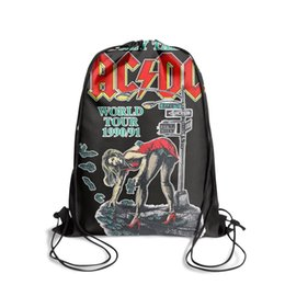 $enCountryForm.capitalKeyWord Australia - Sports backpack ACDC money talks world tour cool cute personalizedpackage daily yoga Bundle athletic sack pouch pull string Bundle backpack