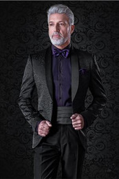 Size 58 Suit for men online shopping - Hot Sale Shawl Lapel Wedding Tuxedos Slim Fit Suits For Men Groomsmen Suit Two Pieces Cheap Prom Formal Suits Jacket Pants Tie