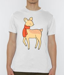 S Scarf NZ - Christmas Reindeer With A Scarf Men's White T-Shirt Sizes S-XXL