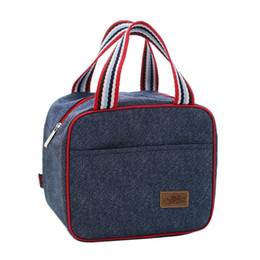 $enCountryForm.capitalKeyWord UK - Denim Handbag Lunch Bag Kid Bento Box Insulated Pack Picnic Thermal Ice Cooler Leisure Accessories Supplies Products Stuff
