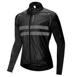 Ingrosso WOSAWE Windbreaker Jacket alta visibilità Giacca ciclismo Uomini Donne impermeabile di sicurezza di riciclaggio MTB Bike Raincoat abbigliamento